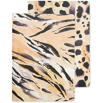 Notebook A5 Go Stationery - Tiger Cheetah | Nikki Strange - 2 Unidades