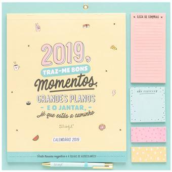 Calendario Mr Wonderful 2019.Calendario Magnetico 2019 Mr Wonderful 2019 Traz Me Bons Momentos