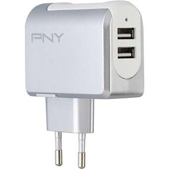 PNY P-AC-2UF-SEU01-RB interior Branco carregador de dispositivos móveis