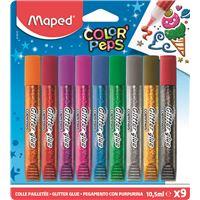 Conjunto 9 Colas Purpurina Maped Color'Peps