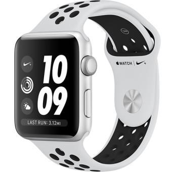 Apple Watch Nike+ Series 3 42mm - Prateado | Bracelete Desportiva Nike - Platina-Pura | Preto