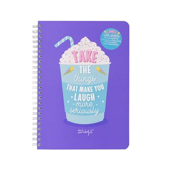 Caderno Mr Wonderful Take The Things That Make You Laugh More Seriously