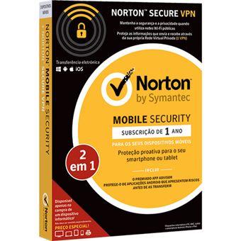Norton Mobile Security - 1 Ano + Norton Secure VPN - 1 VPN