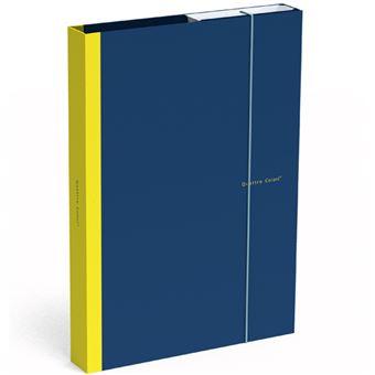 Pasta Arquivadora de Documentos com Elástico Quattro Colori Azul Escuro A4