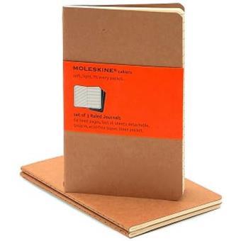 Moleskine: Caderno Pautado Bolso Bege