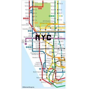 Ímanes Puzzle Mapa do Metro de Nova Iorque - 50 Peças