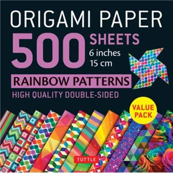 Origami paper 500 sheets rainbow pa