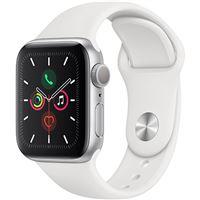Apple Watch Series 5 40mm - Alumínio Prateado | Bracelete Desportiva - Branco