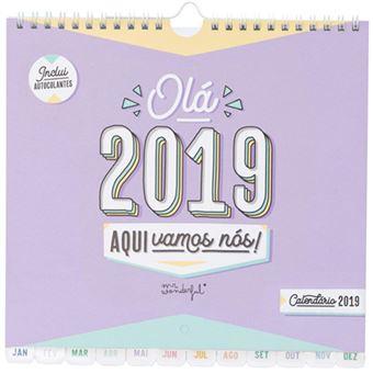 Calendario Mr Wonderful 2019.Calendario De Parede 2019 Mr Wonderful Ola Aqui Vamos Nos
