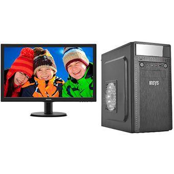 Desktop Insys PowerNet + Monitor Philips 24''   AMD Ryzen ® 3