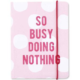 Caderno Pautado Kraft Typo - Busy Doing Nothing A5