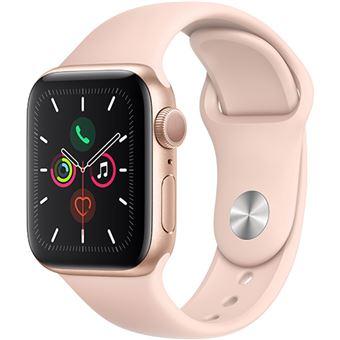 Apple Watch Series 5 40mm - Alumínio Dourado | Bracelete Desportiva - Rosa Areia
