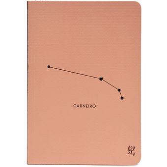 Caderno Liso Signo Carneiro Bolso