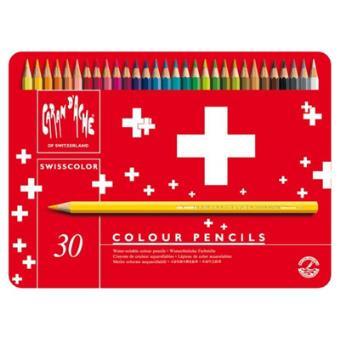 Lápis de Cor Caran d'Ache Swisscolor - 30 Unidades