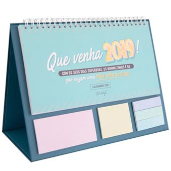 Calendario Mr Wonderful 2019.Calendario De Mesa 2019 Mr Wonderful Que Venha 2019