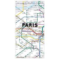 Ímanes Puzzle Mapa do Metro de Paris - 50 Peças