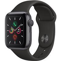 Apple Watch Series 5 40mm - Alumínio Cinzento | Bracelete Desportiva - Preto