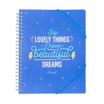 Pasta Mr Wonderful - Say Lovely Things Dream Beautiful Dreams
