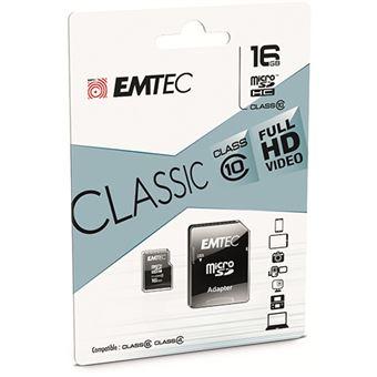 Cartão Memória MicroSDHC EMTEC CL 10 Classic - 16GB