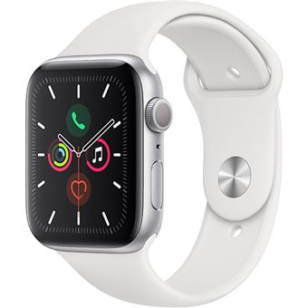 Apple Watch Series 5 44mm - Alumínio Prateado | Bracelete Desportiva - Branco