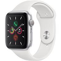 Apple Watch Series 5 44mm - Alumínio Prateado   Bracelete Desportiva - Branco