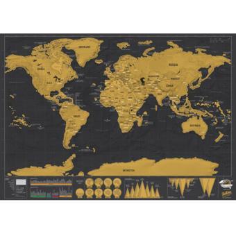 mapa mundi raspar Mapa Mundo Para Raspar Pequeno Multicolorido   Deluxe Edition  mapa mundi raspar