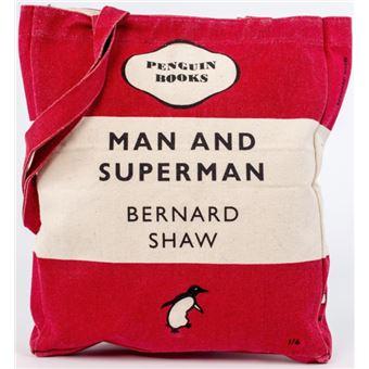 Saco Man and Superman Penguin Books - Vermelho