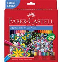 Lápis de Cor Faber-Castell Arte Terapia - 60 Unidades