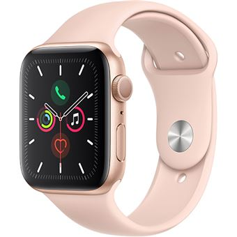 Apple Watch Series 5 44mm - Alumínio Dourado   Bracelete Desportiva - Rosa Areia