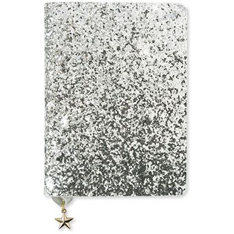Notebook A6 Sequin Silv Go Stationery - All That Glitter