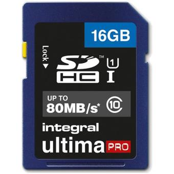 Integral Cartão SD UltimaPRO 16GB 80MB/s Classe 10