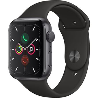 Apple Watch Series 5 44mm - Alumínio Cinzento | Bracelete Desportiva - Preto