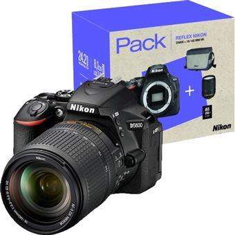 Pack Fnac Nikon D5600 + AF-S DX 18-140mm f/3.5-5.6G ED VR + Bolsa + Cartão de Memória