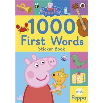 Peppa pig: 1000 first words sticker