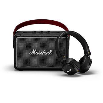 Pack Marshall Road Collection Coluna Bluetooth Kilburn II + Auscultador Bluetooth Major III