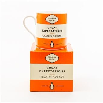 Caneca Great Expectations Penguin Books - Laranja