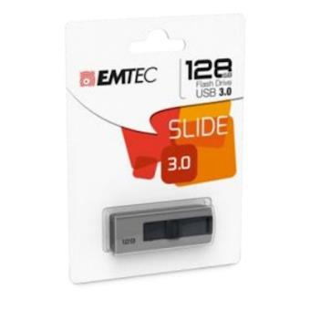 Emtec B250 Slide 128GB USB 3.0 (3.1 Gen 1) Type-A Cinzento unidade de memória USB