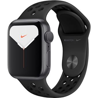 Apple Watch Nike Series 5 40mm - Alumínio Cinzento | Bracelete Desportiva Nike - Antracite | Preto