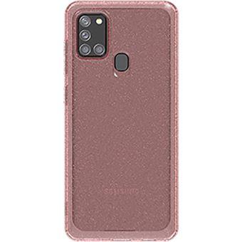 Capa Glitter Samsung para Galaxy A21s - Rosa
