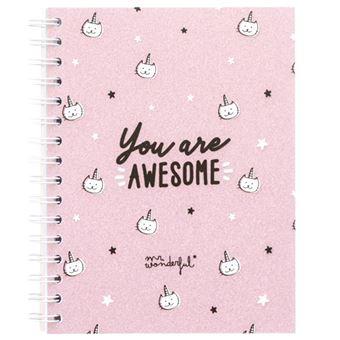 Caderno Pautado-Quadriculado-Pontilhado Mr. Wonderful - You Are Awesome A5