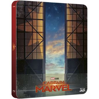 Captain Marvel - Edição Steelbook - Blu-ray 3D + 2D Importação