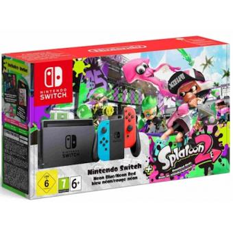 Consola Nintendo Switch 32 GB + Joy-Con Azul Néon & Vermelho Néon (Esquerdo+Direito) + Splatoon 2