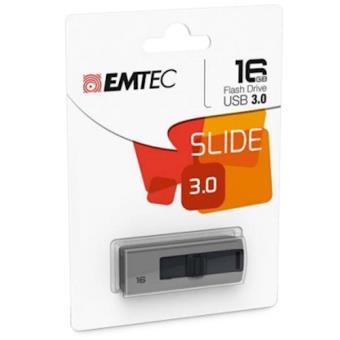 Emtec B250 Slide 16GB USB 3.0 (3.1 Gen 1) Type-A Cinzento unidade de memória USB