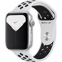 Apple Watch Nike Series 5 44mm - Alumínio Prateado   Bracelete Desportiva Nike - Platina Pura   Preto