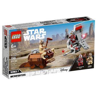 LEGO Star Wars 75265 Microfighters T-16 Skyhopper vs Bantha