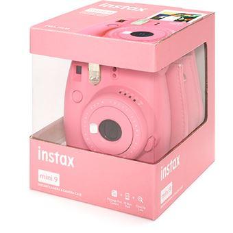 Fujifilm instax mini 9 - Rosa Flamingo + Estojo + 10 Foto