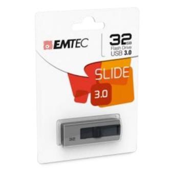 Emtec B250 Slide 32GB USB 3.0 (3.1 Gen 1) Type-A Cinzento unidade de memória USB