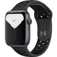 Apple Watch Nike Series 5 44mm - Alumínio Cinzento | Bracelete Desportiva Nike - Antracite | Preto