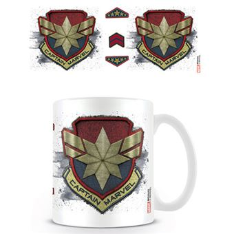Caneca Captain Marvel Badge