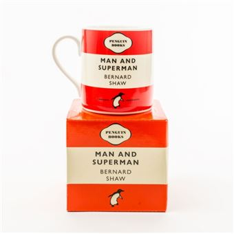 Caneca Man and Superman Penguin Books - Vermelha
